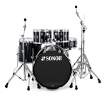 "SONOR  AQ 1 STAGE  SET  PIANO BLACK   "" NYHED"""